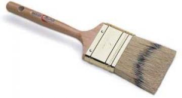 Red Tree Badger, yuvarlatılmış formlu düz kesimli, kalem tip ahşap saplı, doğal samur fırça.