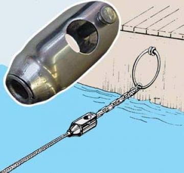 Zincir ve halatı birleştirme konnektörü. AISI 316 paslanmaz çelik.