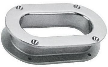 Loça, paslanmaz çelik, flanşlı. İç ebat 171x76, dış ebat 241x146 mm.