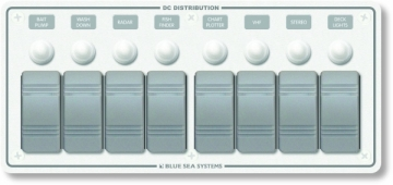 Su geçirmez sigorta paneli. 108x238 mm. Flybridge ve açık kokpitler için dizayn edilmiştir.