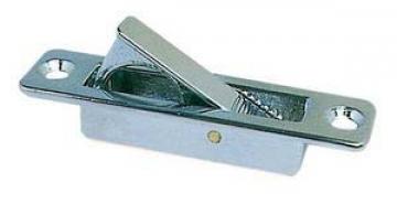 Gömme kulp, yaylı tutamaklı. Paslanmaz çelik. 21x85 mm.