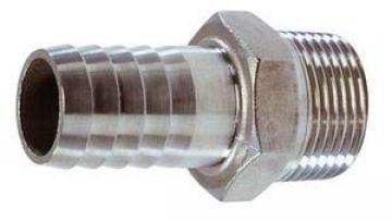 Hortum adaptörü.AISI 316 paslanmaz çelik.