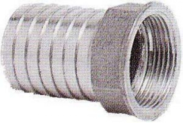 Hortum adaptörü, dişi. AISI 316 paslanmaz çelik.