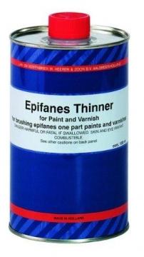 Epifanes tiner. Fırça uygulamasında tek komponentli epifanes verniklerde kullanılır.