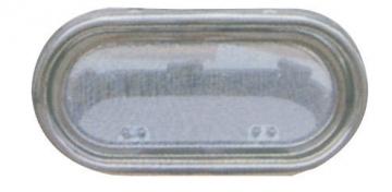 Krom Lumboz Oval 20 x 40 cm Montaj Ölçüsü: 15.5 x 35.5 cm Sineklik Dahil