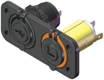 USB ve Çakmak Soketi USB 12-24 Volt - Çakmak 12 Volt