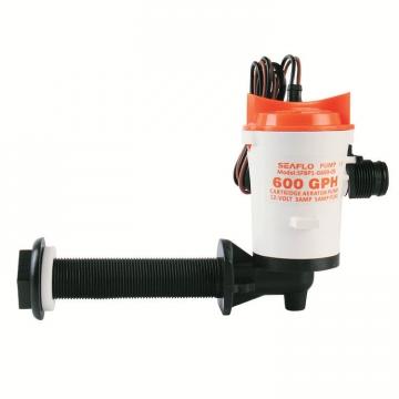Seaflo Liver (Livar) Pompası 600 gph. 90° 12 V