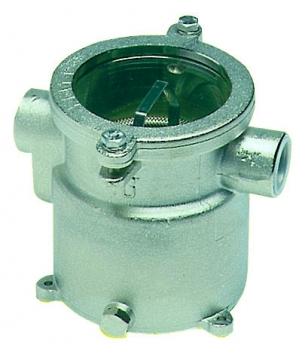 Deniz suyu filtresi, bronz gövdeli, paslanmaz çelik aksamlı. RINA onaylı. Ebat(mm): Ø170x215h