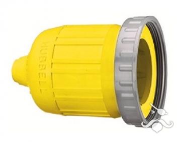 Hubbell 63 Amp paslanmaz çelik fiş için koruyucu kılıf.