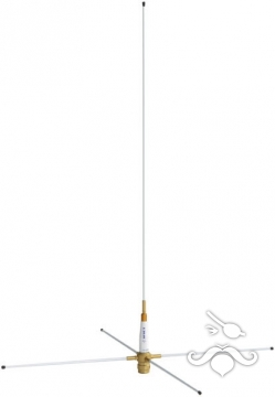 KM-140 Profesyonel VHF Fiberglas Anten 1,0 m