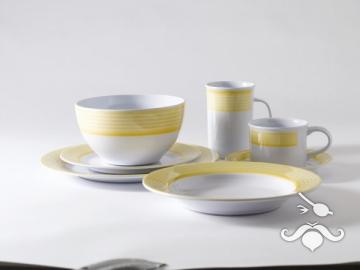 Trendline sarı, 20 parça melamin yemek takımı