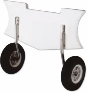 Şişme botlar ve dingiler için kıça montaj taşıma tekerleği.