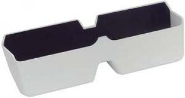 Gözlük yuvası, yapışkanlı. Beyaz plastik, 160X55x28mm.