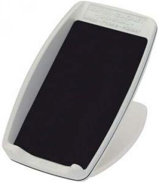 Mobil telefon tutucu, beyaz plastik. 104X59x59mm.