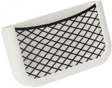 Plastik fileli eşya yuvası, beyaz. 205x112x32mm.