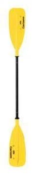 Caviness tip k kano küreği. Super sert 29 m çapındaki alüminyum sarı plastik kaplıdır. 25x56 cm ebadındaki palası sertleştirilmiş plastikt