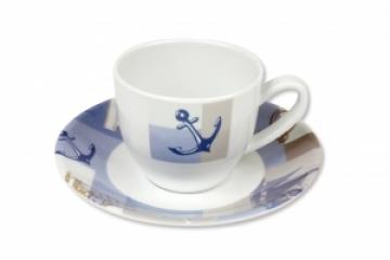 Topoplastic Newport serisi melamin kahve fincanı ve tabağı