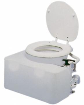 Üniversal pis su tankı, tuvalete entegre.